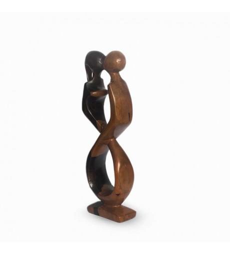 Statuette - Couple d'amoureux en ébène