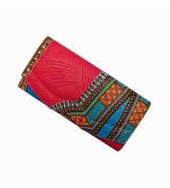 Pochette rectangulaire en Wax Dashiki