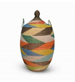 Panier africain multicolore