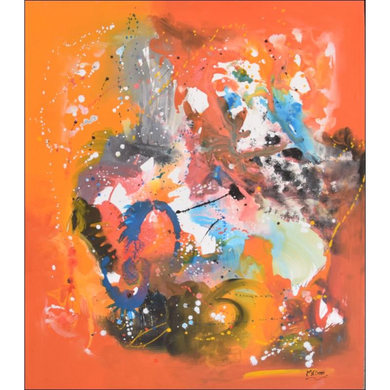 Toile abstraite , peinture acrylique , jet de couleurs - nogart