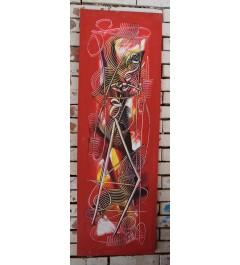 """""""femmes porteuses"""", Peinture acrylique, toile abstraite"""