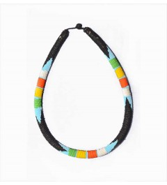 Collier Massaï Multicolore