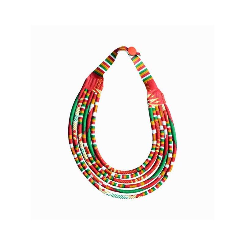 sélection premium 0408d 1da97 collier massaï en wax