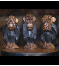 """figurines des """"singes de la sagesse"""""""